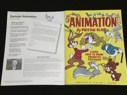 Copia del libro di Preston Blair realizzata da Otsuka